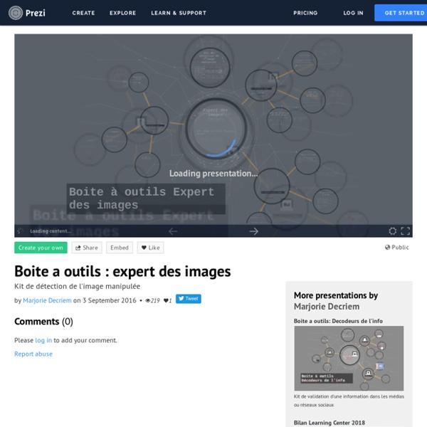 Boite a outils : expert des images by Marjorie Decriem on Prezi