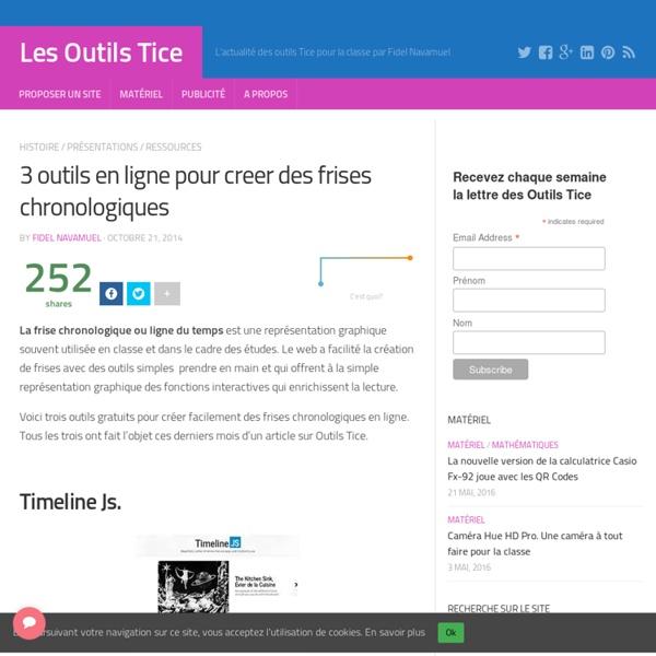 3 outils en ligne pour creer des frises chronologiques