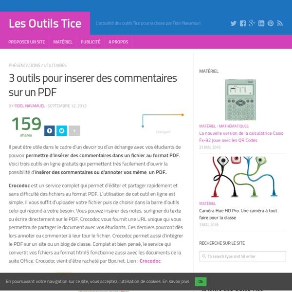 3 outils pour inserer des commentaires sur un PDF