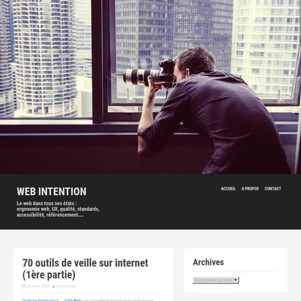 70 outils de veille sur internet (1ère partie)