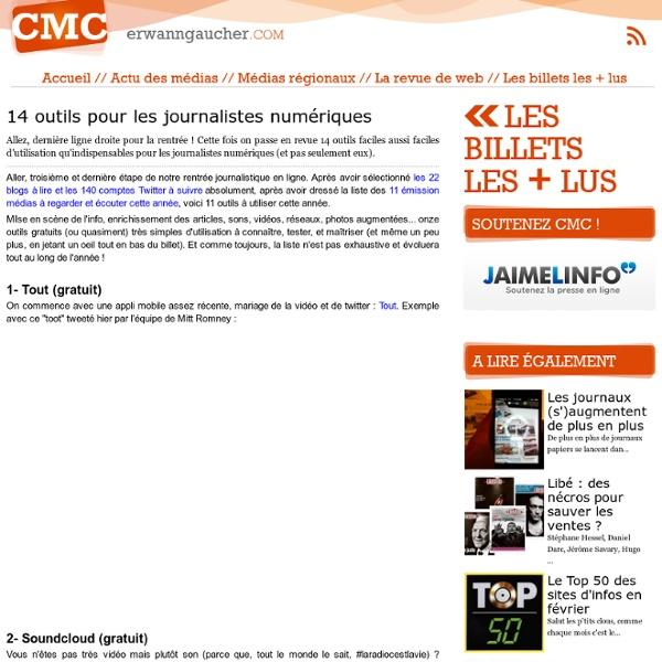 14 outils pour les journalistes numériques