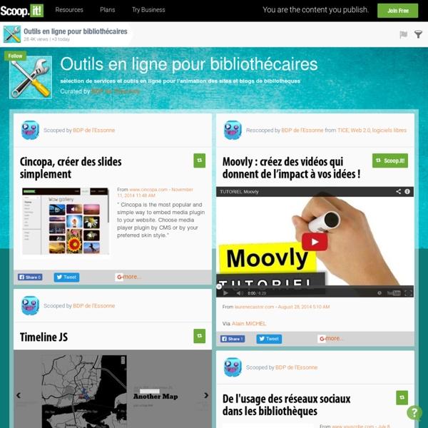 Outils en ligne pour bibliothécaires