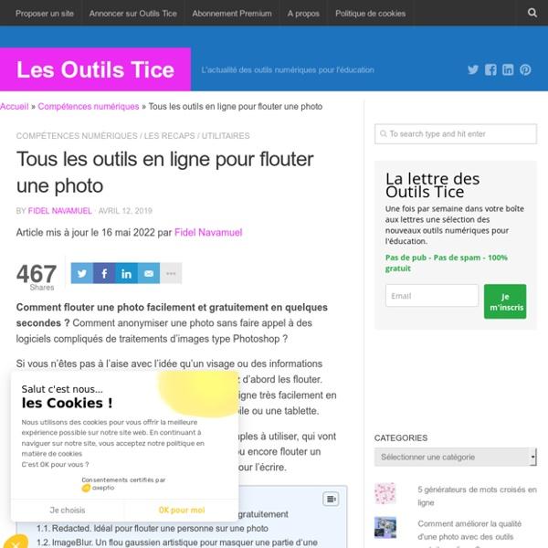 3 outils en ligne pour flouter une photo - Les Outils Tice