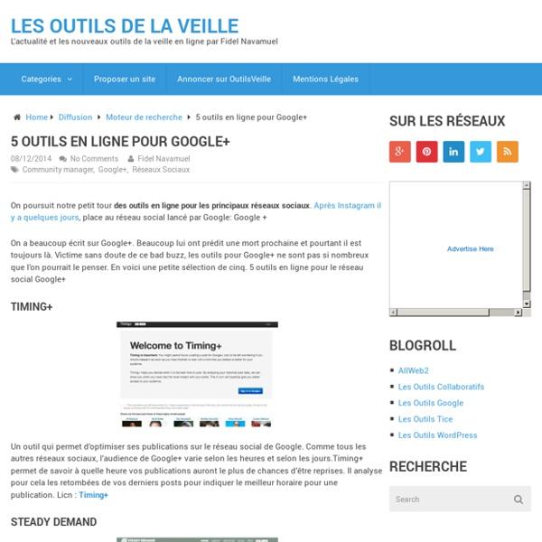 5 outils en ligne pour Google+