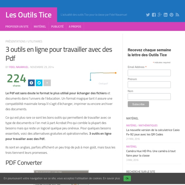 3 outils en ligne pour travailler avec des Pdf