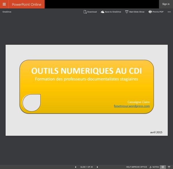 Outils numeriques 2015.pptx - Microsoft PowerPoint Online