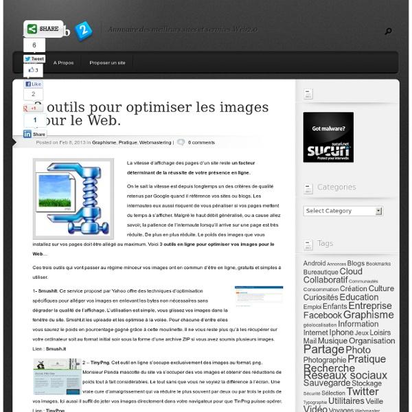 3 outils pour optimiser les images pour le Web