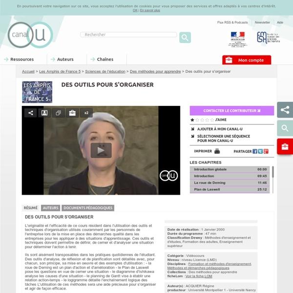 Vidéo : Des outils pour s'organiser
