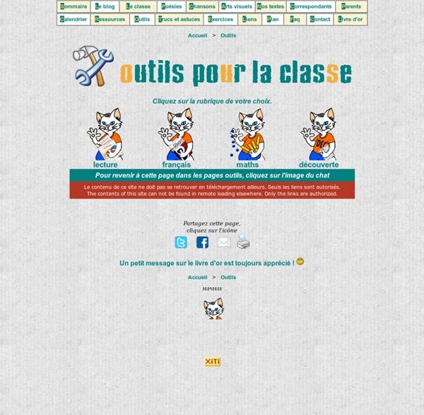 Outils pédagogiques pour le cp ce1 - lakanal.net
