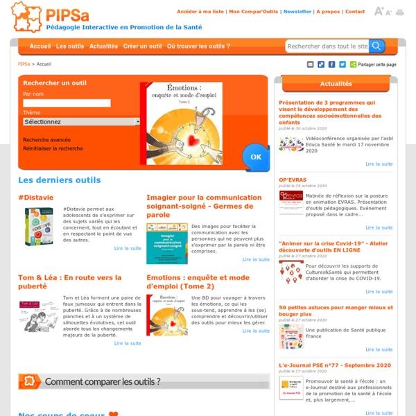 PIPSA : outils pédagogiques en promotion de la santé