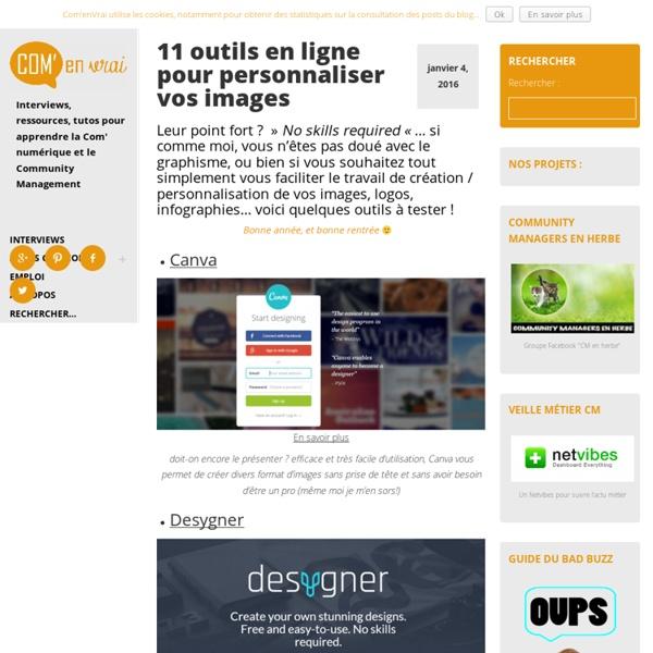 11 outils en ligne pour personnaliser vos images -