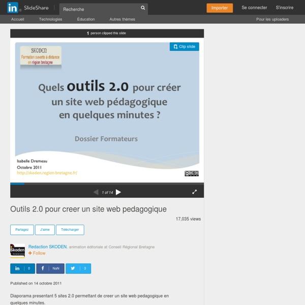 Outils 2.0 pour creer un site web pedagogique