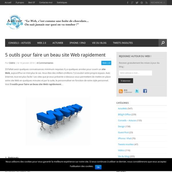 5 outils pour faire un beau site Web rapidement