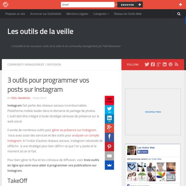 3 outils pour programmer vos posts sur Instagram