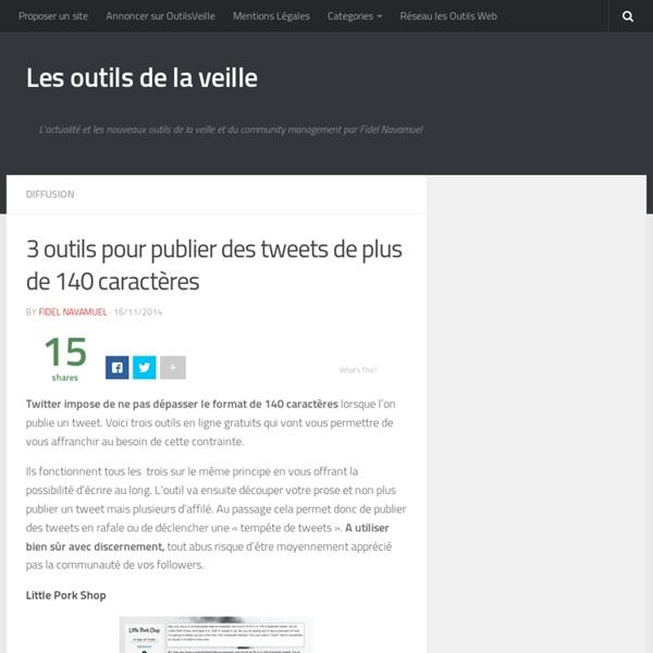 3 outils pour publier des tweets de plus de 140 caractères