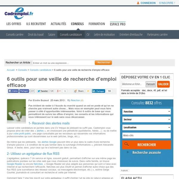 6 outils pour une veille de recherche d'emploi efficace