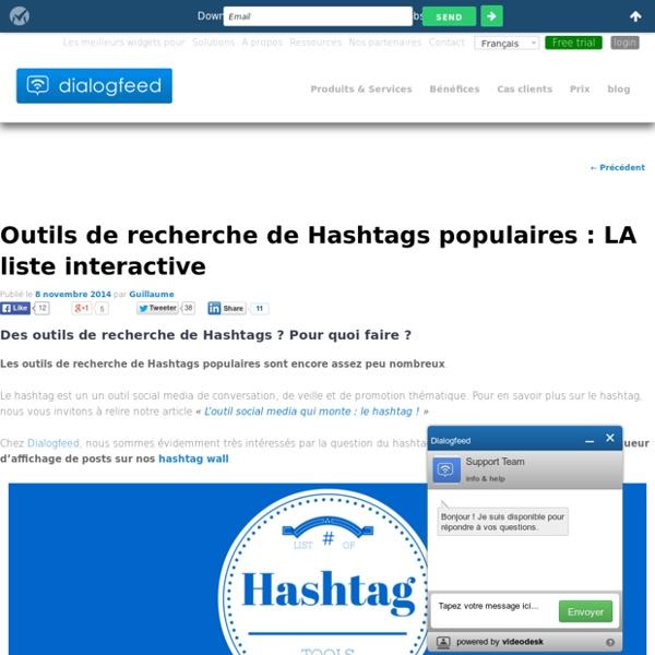 Liste d'outils de recherche de Hashtags