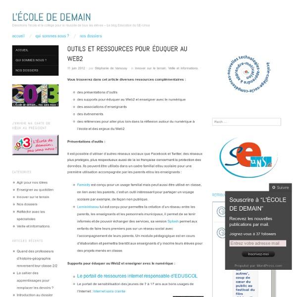 Outils et ressources pour éduquer au Web2