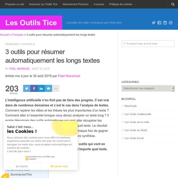 3 outils pour résumer automatiquement les longs textes