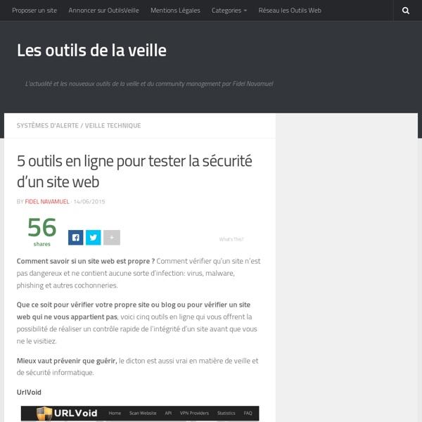 5 outils en ligne pour tester la sécurité d'un site web