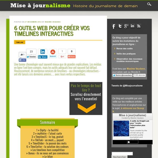 6 outils web pour créer vos timelines interactives