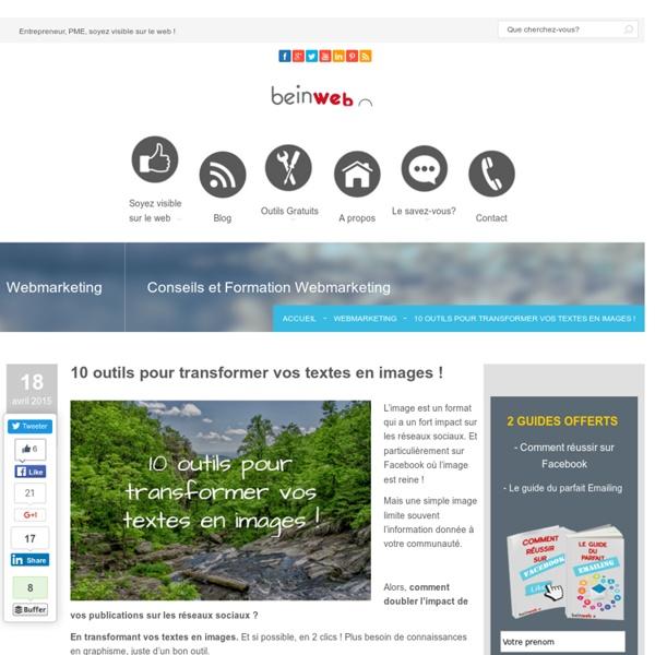10 outils pour transformer vos textes en images !