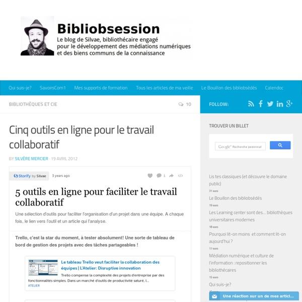 Cinq outils en ligne pour le travail collaboratif