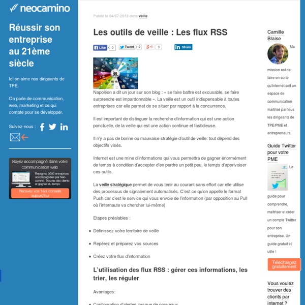 Les outils de veille : Les flux RSS