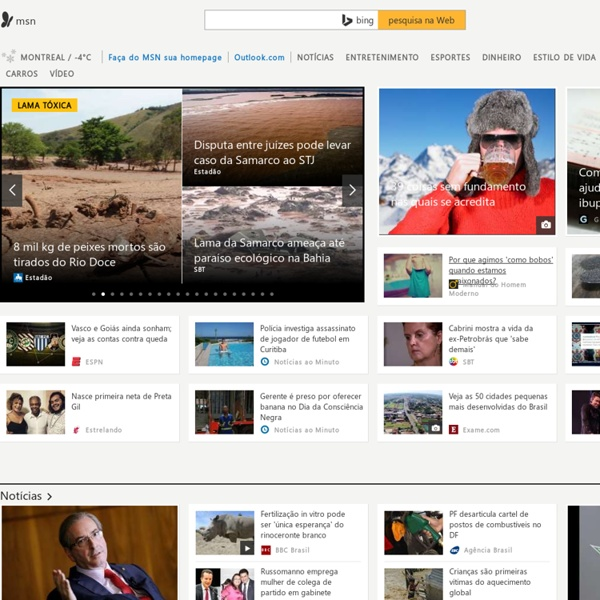 MSN Brasil - Outlook, Hotmail, Skype, Notícias, Fotos e Vídeos