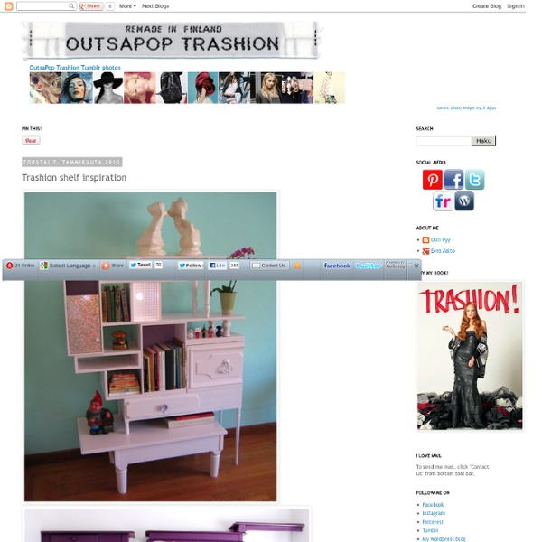 OutsaPop Trashion recycled style DIY fashion eco sustainable refashion blog
