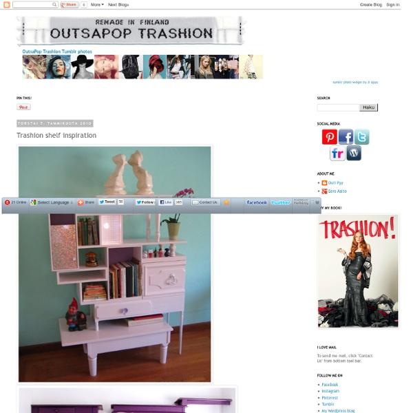 OutsaPop Trashion recycled style DIY fashion eco sustainable refashion blog