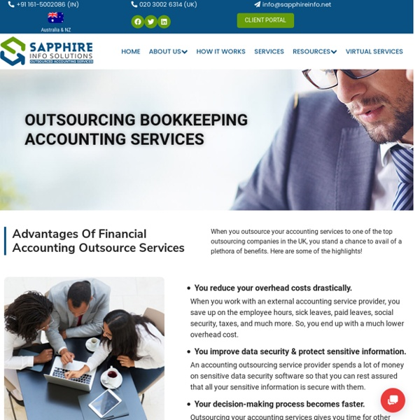 Outsourcing For Accountants In Uk