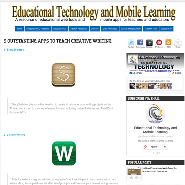 9 Outstanding Apps to Teach Creative Writing