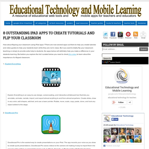 8 Outstanding iPad Apps to Create Tutorials and Flip your Classroom