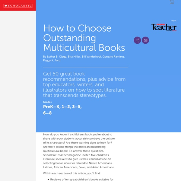 How to Choose Outstanding Multicultural Books