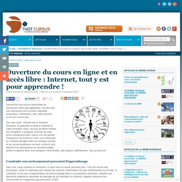 Ouverture du cours en ligne et en accès libre : Internet, tout y est pour apprendre !
