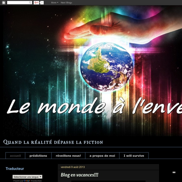 Le monde a l'envers pour 2012