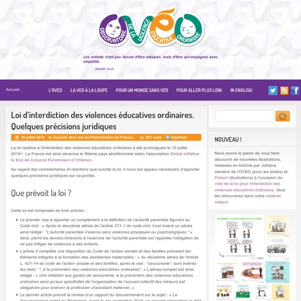 OVEO OBSERVATOIRE DE LA VIOLENCE EDUCATIVE ORDINAIRE