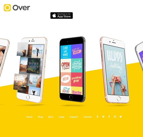 Over – Add beautiful text & artwork to photos.