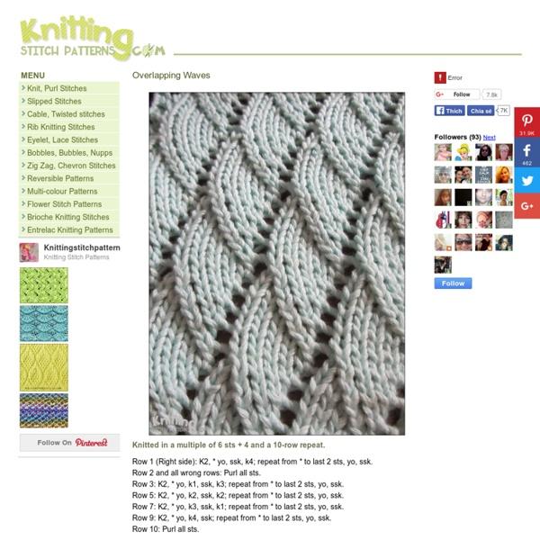 d447b98f911207 Knitting Stitch Patterns