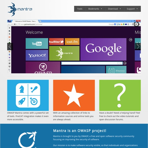 OWASP Mantra - Free and Open Source Browser based Security Framework