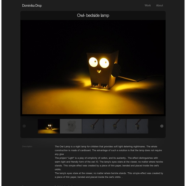 Owl- bedside lamp : Dominika Drop