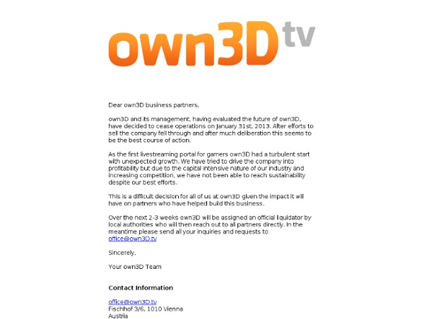Own3D.tv - Live! Your Game