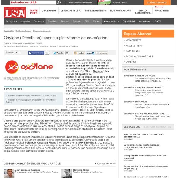 Oxylane (Décathlon) lance sa plate-forme de