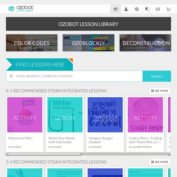 Ozobot - modules d'activités
