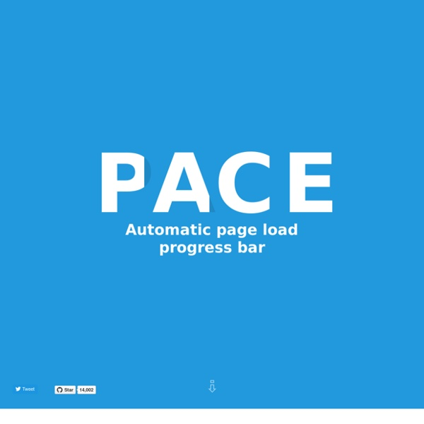 PACE — Automatic page load progress bars