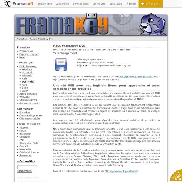Pack Framakey-Dys