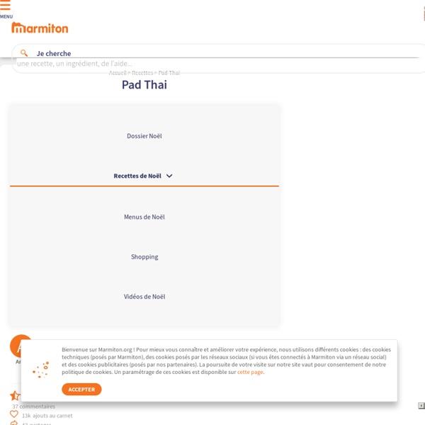 Pad Thai : Recette de Pad Thai
