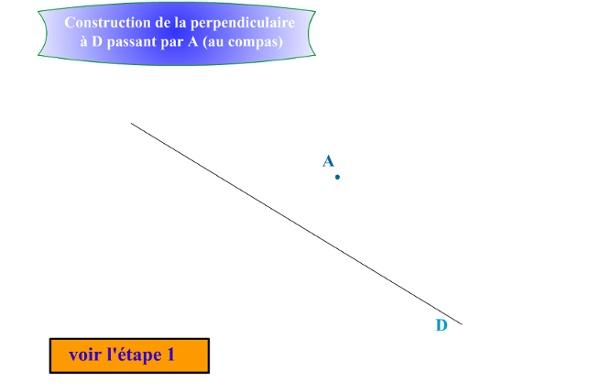 Perpendiculaire compas