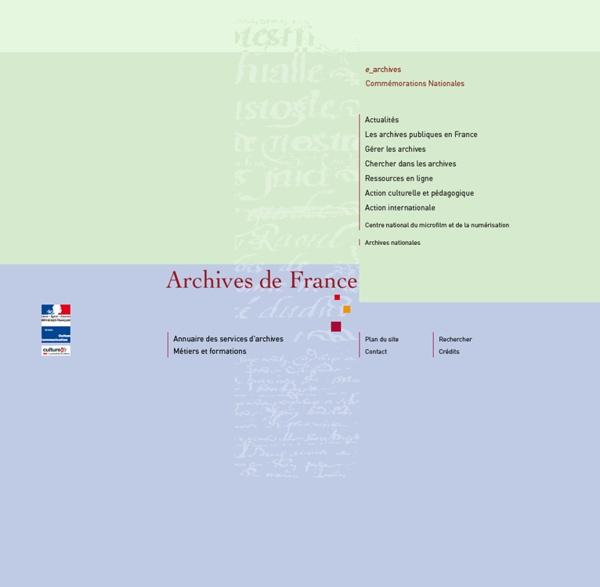 Archives de France